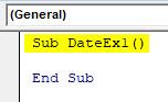 VBA Date Example 1-2