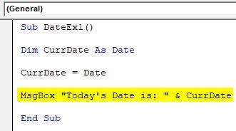VBA Date Example 1-5
