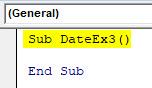 VBA Date Example 3-2
