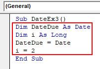VBA Date Example 3-3