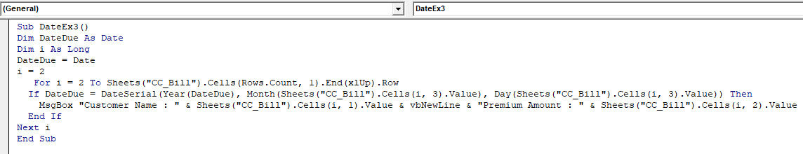 VBA Date Example 3-4