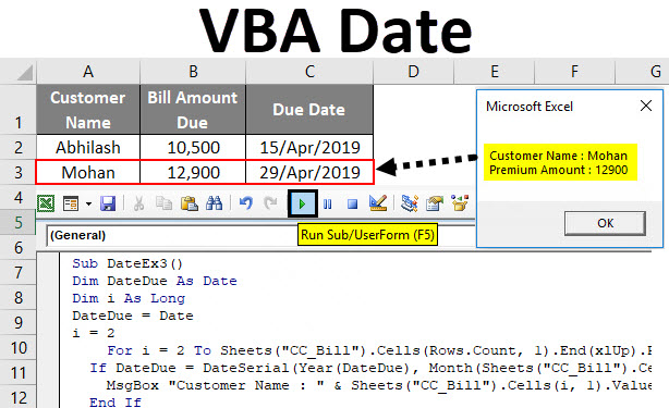 VBA Date | How to Use Excel VBA Date Function? (Examples)