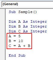 VBA Dim Example 1-5