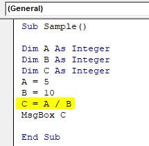 VBA Dim Example 1-8