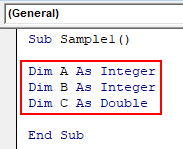VBA Dim Example 2-4