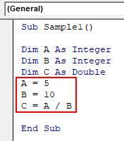 VBA Dim Example 2-5