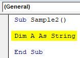 VBA Dim Example 3-4
