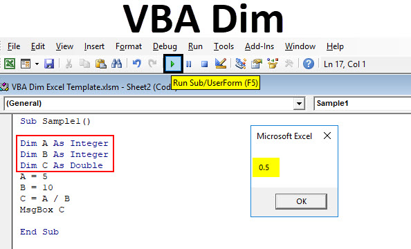 VBA Dim | How to Use Excel VBA Dim? (Examples)