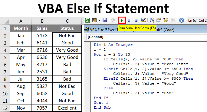 VBA Else If Statement