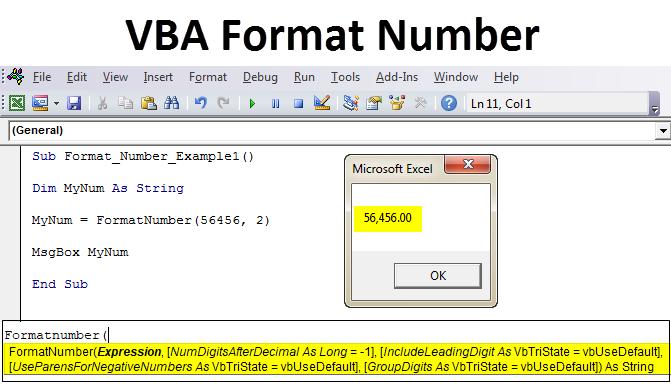 VBA Format Number