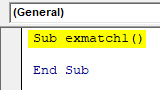 VBA Match Example 1-2