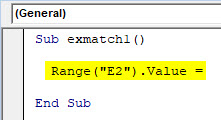 VBA Match Example 1-3