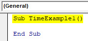 VBA Time Example 1-1