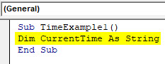 VBA Time Example 1-2