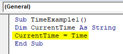 VBA Time Example 1-3