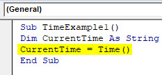 VBA Time Example 1-4