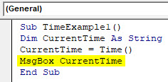 VBA Time Example 1-5