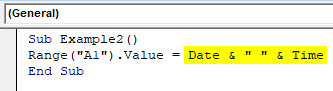 VBA Time Example 2-5