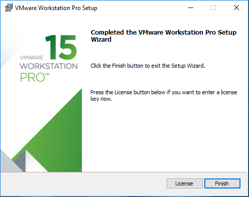 VMware installation gets completed