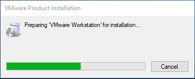 VMware workstation for installation