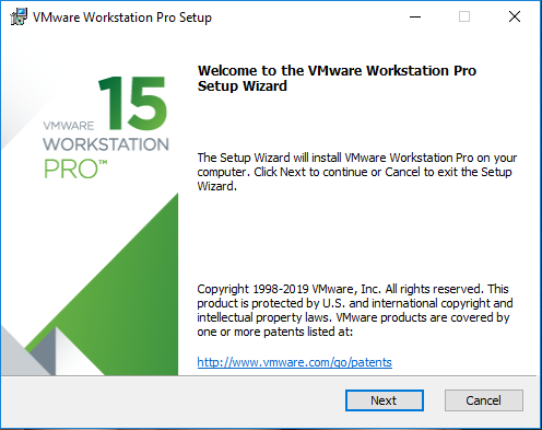 VMware worksttation pro setup wizard