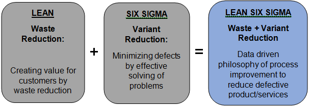 'Lean' and 'Six Sigma' processes.