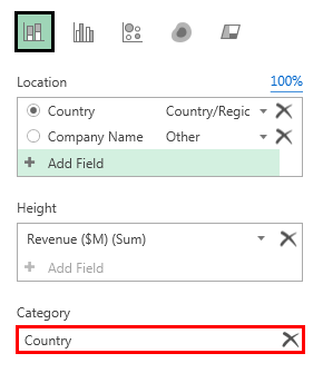 3D map revenue layer option