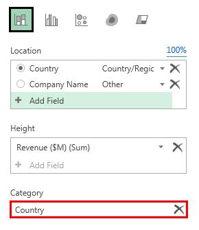 3D map revenue layer option