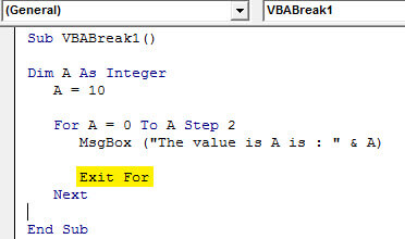 Break loop example 7