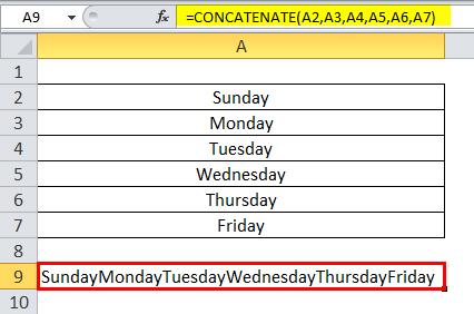 Concatenate Example 3-3
