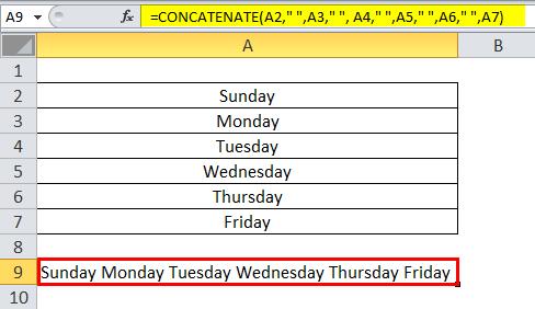 Concatenate Example 3-5