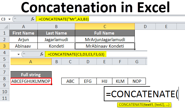 Concatenate in Excel