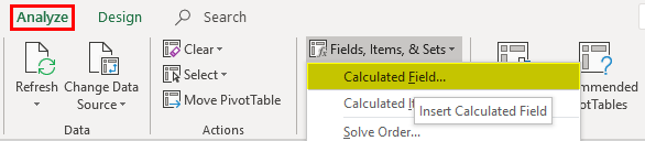 Pivot Table Formula in Excel 4