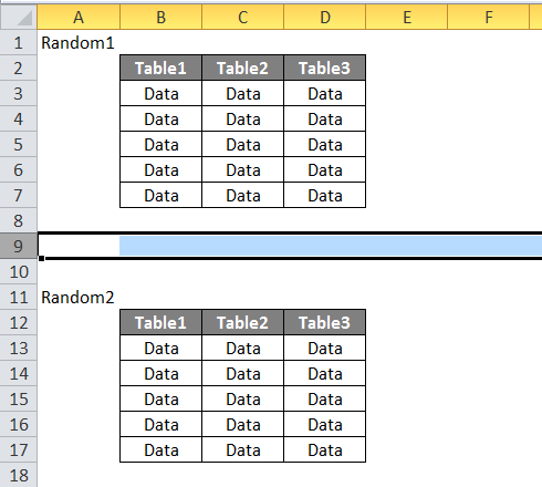 Excel Insert Page Break Example 1-3