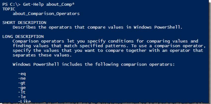 Get-Help(PowerShell Commands)