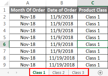 Group Worksheet in Excel Example 2.2
