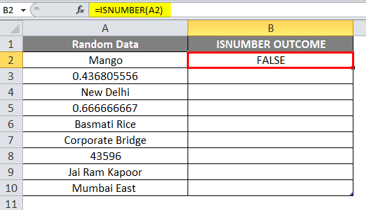 ISNUMBER excel example 1-4