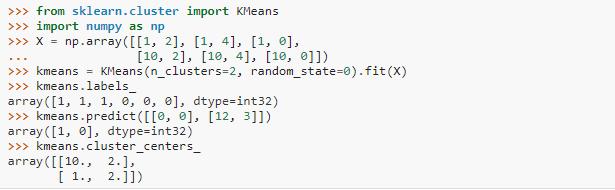 K-means clustering inpython code 2(Machine Learning Algorithms)
