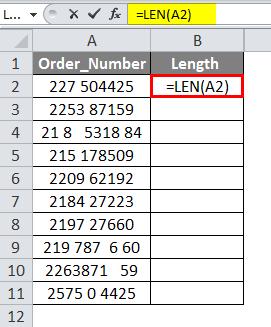 LEN Formula Example 4-1