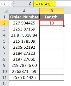 LEN Formula Example 4-2