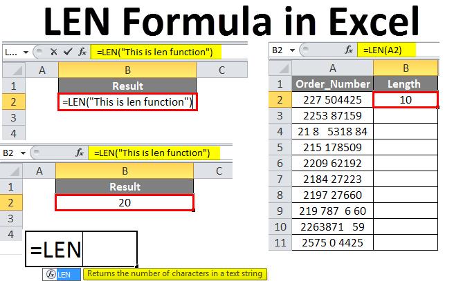 LEN Formula in Excel