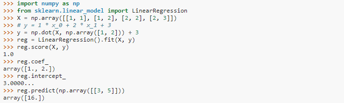 Linear Regression written in Python 2