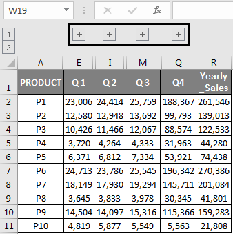 Multiple Grouping of columns Example 2.4