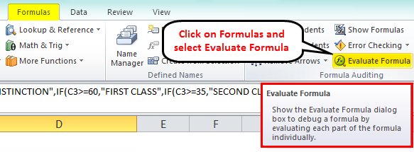 NestedIf Formula- Evaluate formula