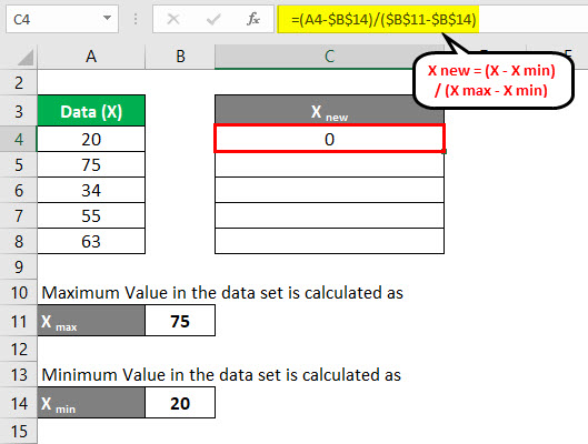 Normalization Formula Example 1-4