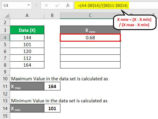 Normalization Formula Example 2-4