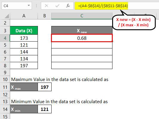 Normalization Formula Example 3-4