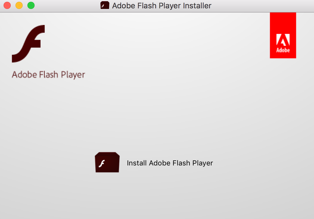 Open the AdobeFlashPlayer