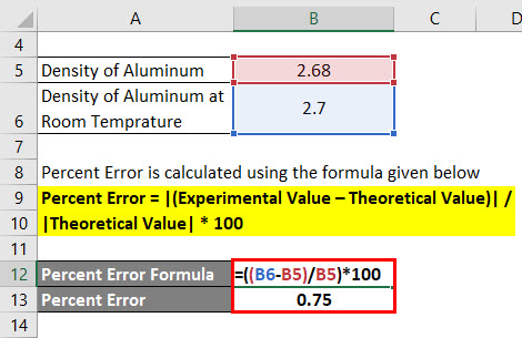 Percent Error Example 1-2