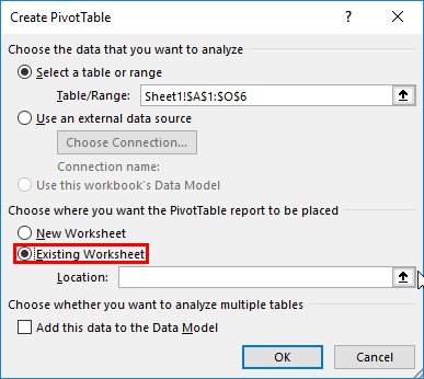 Pivot Table Sort step 4